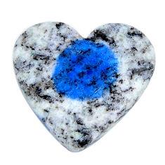Natural 14.30cts k2 blue (azurite in quartz) 21x20mm heart loose gemstone s19171