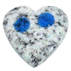 Natural 20.30cts k2 blue (azurite in quartz) 24x24mm heart loose gemstone s20416