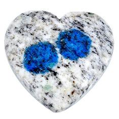 Natural 24.35cts k2 blue (azurite in quartz) 25x23.5 mm loose gemstone s20414
