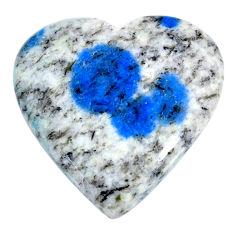Natural 28.45cts k2 blue (azurite in quartz) 26x25mm heart loose gemstone s20396