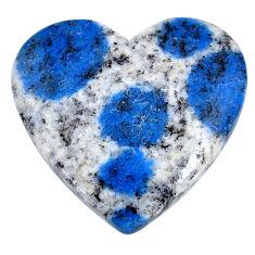 Natural 24.15cts k2 blue (azurite in quartz) 26x25mm heart loose gemstone s20397