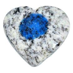 Natural 25.15cts k2 blue (azurite in quartz) 26x25mm heart loose gemstone s20413