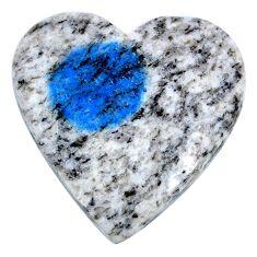 Natural 25.15cts k2 blue (azurite in quartz) 26x26mm heart loose gemstone s20395