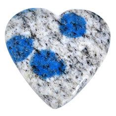 Natural 26.30cts k2 blue (azurite in quartz) 26x26mm heart loose gemstone s20415