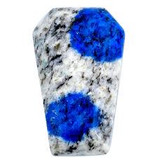 Natural 23.10cts k2 blue (azurite in quartz) 27x16 mm oval loose gemstone s20394