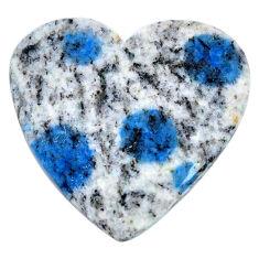 Natural 22.35cts k2 blue (azurite in quartz) 27x26mm heart loose gemstone s20420