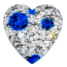 Natural 36.30cts k2 blue (azurite in quartz) 29x28 mm oval loose gemstone s20400