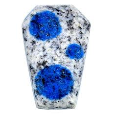 Natural 24.15cts k2 blue (azurite in quartz) 31x20mm fancy loose gemstone s20392