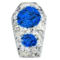 Natural 28.15cts k2 blue (azurite in quartz) 32x20 mm loose gemstone s20402