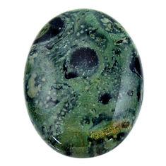 Natural 26.25cts kambaba jasper green cabochon 30x22 mm loose gemstone s19003