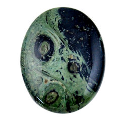 Natural 27.35cts kambaba jasper green cabochon 30x22 mm loose gemstone s19004