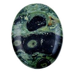 Natural 27.40cts kambaba jasper green cabochon 30x22 mm loose gemstone s19006