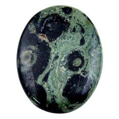 Natural 25.15cts kambaba jasper green cabochon 30x22 mm loose gemstone s19010