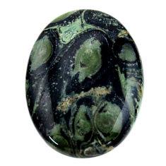 Natural 27.25cts kambaba jasper green cabochon 30x22 mm loose gemstone s19011