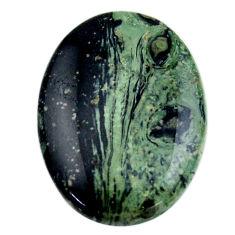 Natural 28.15cts kambaba jasper green cabochon 30x22 mm loose gemstone s19012