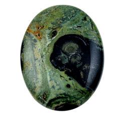 Natural 28.10cts kambaba jasper green cabochon 30x22 mm loose gemstone s19014