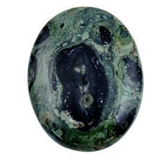 Natural 27.35cts kambaba jasper green cabochon 30x22 mm loose gemstone s19016