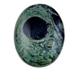 Natural 25.10cts kambaba jasper green cabochon 30x22 mm loose gemstone s19018