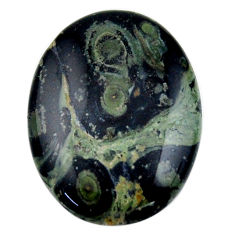 Natural 24.35cts kambaba jasper green cabochon 30x22 mm loose gemstone s19019