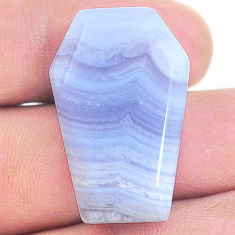 Natural 28.35cts lace agate blue cabochon 30x18.5 mm fancy loose gemstone s24758