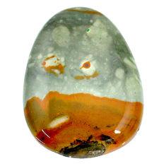 Natural 37.40cts landscape picture jasper 33.5x23.5 mm loose gemstone s22707