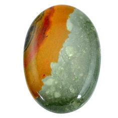 Natural 37.35cts landscape picture jasper 35x22.5 mm oval loose gemstone s22712