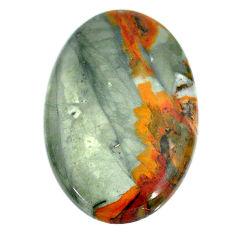 Natural 35.10cts landscape picture jasper 37x24 mm oval loose gemstone s22710