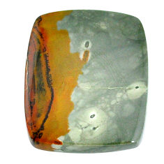 Natural 50.15cts landscape picture jasper 37x26 mm cushion loose gemstone s22716