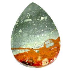 Natural 52.40cts landscape picture jasper 41x28 mm pear loose gemstone s22703