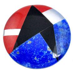 Natural 12.40cts lapis lazuli blue 20x20 mm inlay loose gemstone s20481