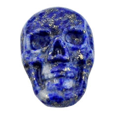 Natural 8.25cts lapis lazuli blue cabochon 17.5x12mm skull loose gemstone s18144