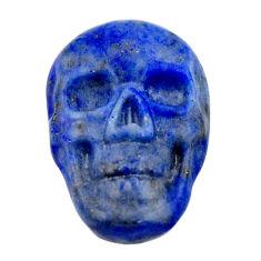 Natural 8.35cts lapis lazuli blue cabochon 17.5x12mm skull loose gemstone s18145