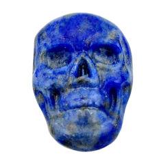 Natural 7.25cts lapis lazuli blue cabochon 17.5x12mm skull loose gemstone s18146
