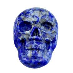 Natural 8.10cts lapis lazuli blue cabochon 17.5x12mm skull loose gemstone s18147