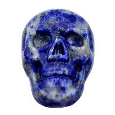 Natural 7.40cts lapis lazuli blue cabochon 17.5x12mm skull loose gemstone s18153