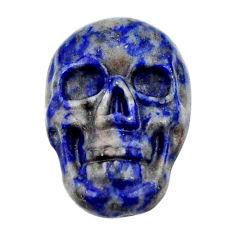 Natural 8.25cts lapis lazuli blue cabochon 17.5x12mm skull loose gemstone s18154