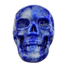 Natural 7.15cts lapis lazuli blue cabochon 17x11 mm skull loose gemstone s18149