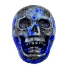 Natural 8.40cts lapis lazuli blue cabochon 17x11.5mm skull loose gemstone s18152