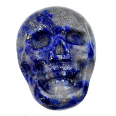 Natural 7.35cts lapis lazuli blue cabochon 17x12 mm skull loose gemstone s18157