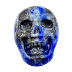 Natural 7.40cts lapis lazuli blue cabochon 17x12 mm skull loose gemstone s18158