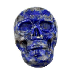 Natural 8.10cts lapis lazuli blue cabochon 18x12 mm skull loose gemstone s18143