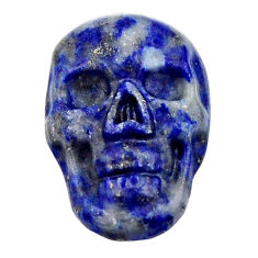 Natural 7.40cts lapis lazuli blue cabochon 18x12 mm skull loose gemstone s18159