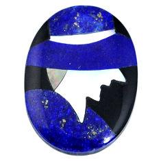 Natural 15.10cts lapis lazuli blue cabochon 25x18 mm inlay loose gemstone s20501