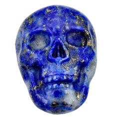 Natural 17.05cts lapis lazuli blue carving 22.5x15mm skull loose gemstone s18020
