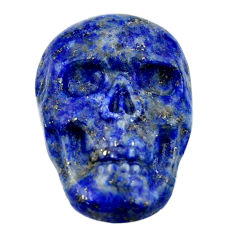 Natural 15.10cts lapis lazuli blue carving 22.5x15mm skull loose gemstone s18023