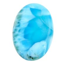 Natural 17.40cts larimar blue cabochon 23x16 mm oval loose gemstone s18575
