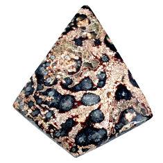 Natural 28.40cts leopard skin jasper brown 40x34 mm fancy loose gemstone s21125