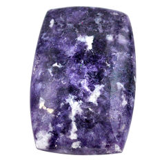 Natural 28.45cts lepidolite cabochon 29x19 mm octagan loose gemstone s23356