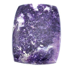 Natural 14.05cts lepidolite purple cabochon 22x16 mm loose gemstone s22697