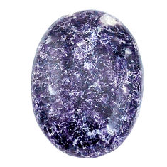 Natural 15.10cts lepidolite purple cabochon 23.5x16.5 mm loose gemstone s22689